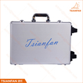 Portable Tile Aluminum Suitcase Stone Display Case With Wheel