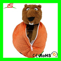 Plush Football bear BEAVER in ball