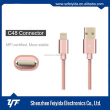 High quality MFI certified nylon braid 8 pin cables for apple usb cable