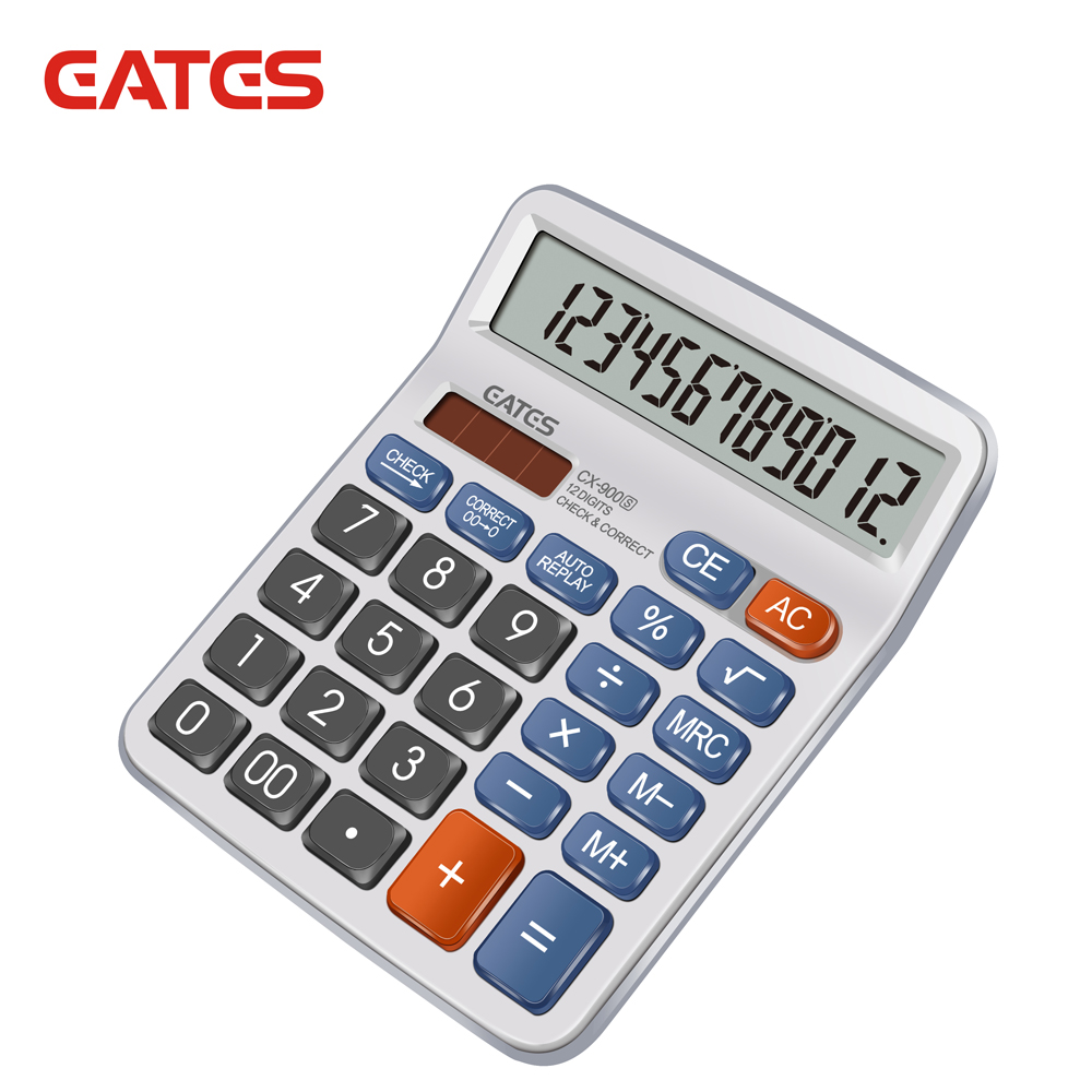 Hot Selling 112 Steps Check Correct Calculator 12 Digits Solar Power Desktop Calculator