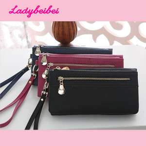 Hot Fashion Women Wallets Matte PU Leather Double Zipper Wallet Ladies Long Day Clutch Coin Purse Card Holder