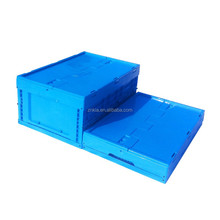 PP plastic logistic collapsible storage box with top cover