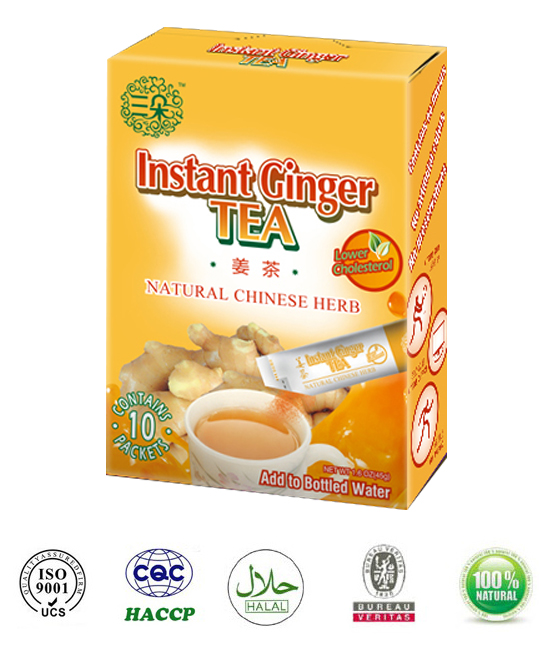 Instant Ginger Tea with honey Lower cholesterol Relax muscle
