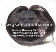 High quality remy clip brown hair bang pieces