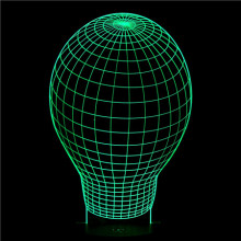 Amazing bulb light shape 3D Illusion Light LED Table Lamp Night Light