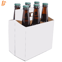 Big supplier white 6 pack cardboard beer bottle carrier