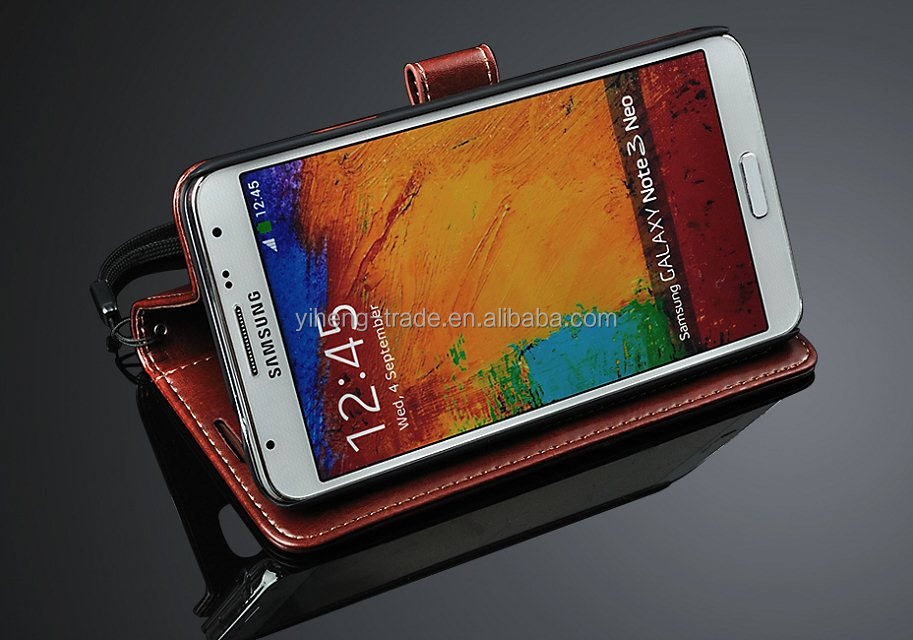 Luxury crazy horse Case For Samsung Galaxy Note 3 PU Leather Wallet Case For Samsung Galaxy Note3
