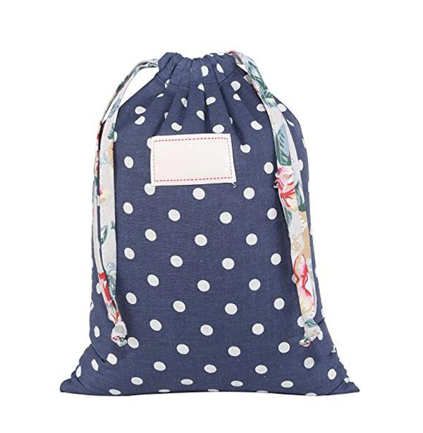 Cute pattern floral cotton various styles laundry bag with drawstring