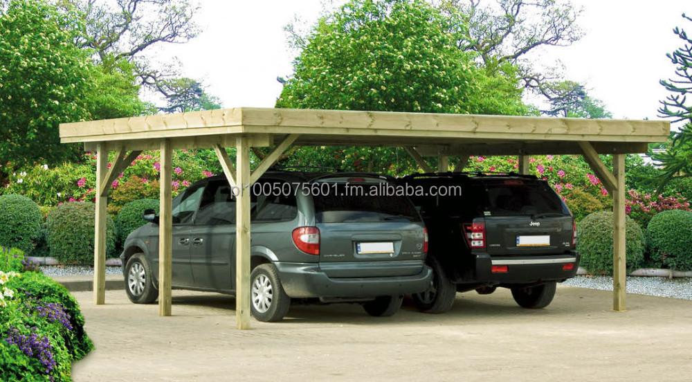 Hanover Doble Garaje De Madera Barato Garajes Marquesinas