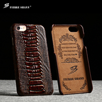 Wood grain dinosaur pattern leather cell phone case for iphone 6s