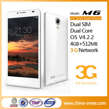 new arrival M6 gps enabled satellite mtk ultra thin unlocked smart phone