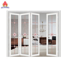 Bomei Top Quality Aluminum Glass Folding Patio Doors For The Modern House