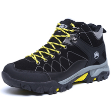 Middle cut plus hair shoes men outdoor hiking men shoes