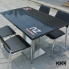customized rectangular artificial marble dining table tops for restaurant