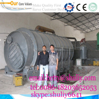 Top technology waste tire oil refining machine pyrolysis oil distillation equipment with ISO CE certification