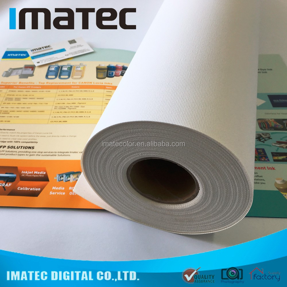 Large format waterproof inkjet digital matte poly-cotton canvas roll 320gsm