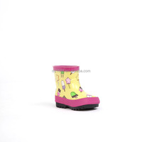 Fancy Lovely Waterproof Rubber Kids Rain Boots Winter Kids Boots With Anti-slip Outsole
