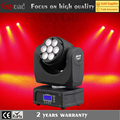 7x12w 4in1 rgbw led small beam moving head rotating stage light