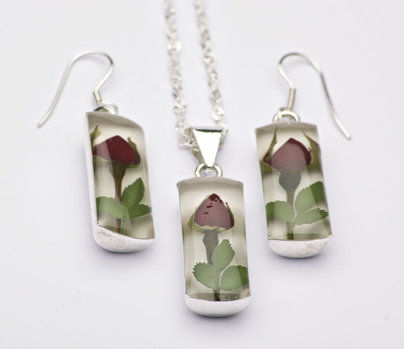 Beautiful Natural Flower Sterling Silver Jewelry