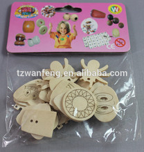 wanfeng New Design Wood Button lace dress designs merry-go-round shape wood buttons