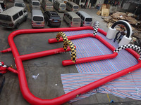best quality inflatable air track for race car games, kids race car games for sale