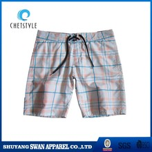 New fabric 4 way stretch men beach shorts white board shorts wholesale
