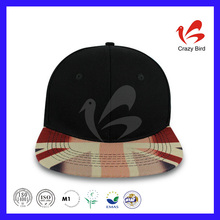 Sell Like Hot Cakes Crazy Bird Youth Black & White Acrylic Printing Inner Tape British Flag Snapback Hat