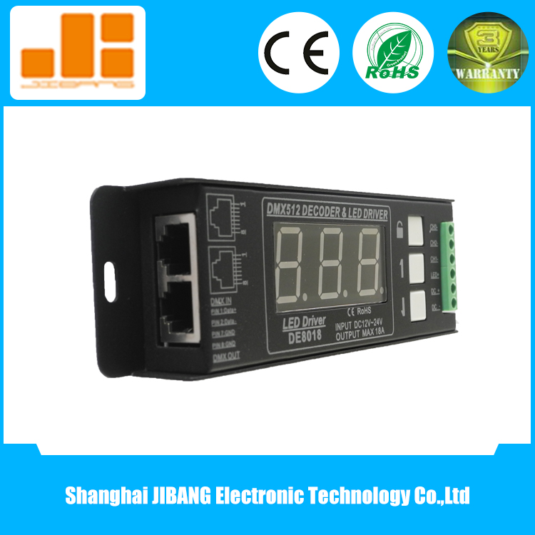 CE&RoHS 3CH DMX LED Dimmer with Digital Display Control