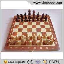Wood Chess Game Set for Two Players Floding Chessboard with Chess Pieces