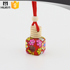 red color polymer clay material hanging car empty car air freshener bottle