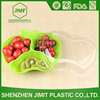 500g Green Apple shape fruit packaging boxes 3 compartment