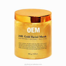 Melao 24 K Gold Collagen Face Mask 8.8 oz for Anti Aging Facial Treatment and Pore Minimizer