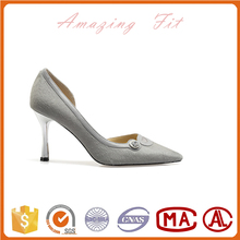Pointed toe high heels women leather wedding shoes bridal shoes shallow mouth dress shoes