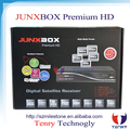 Original JYNXBOX Box Junxbox Premium hd with Fan& jb200&wifi antenna&twin tuner slot for north america