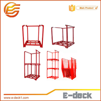 Detachable Heavy duty warehouse powder coating metal pallet frame steel nestainer