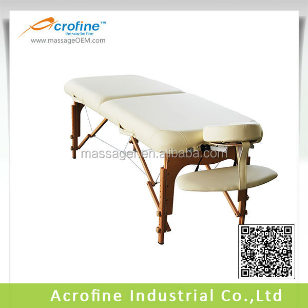 Acrofine Wooden Portable Massage Table with Deluxe PU leather