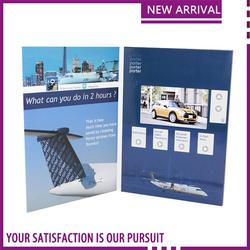 a wide selection of colours and designs video book with light sensor tft screen custom postcard book