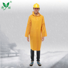 Eco-Friendly Cheap One Piece 100% Waterproof Hooded Heavy Duty Long Raincoat