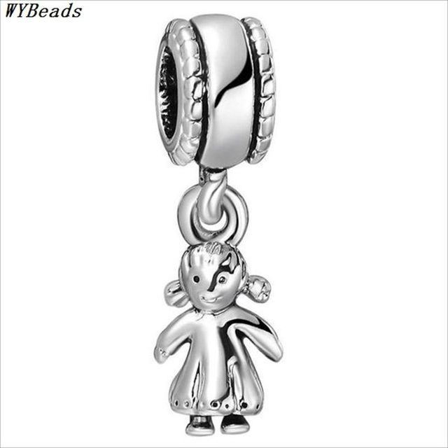 WYBEADS Unique Silver Beads Symbol Pendant European Charms Bead Fit Pandora Style Bracelet Bangle Original Jewelry Making