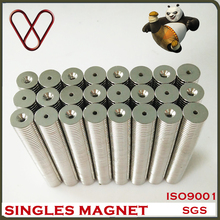 super strong rare earth Neodymium round magnets with countersink hole