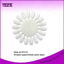 18 tips dispaly sun shape Nail polish practice fan also for color display for nail beauty