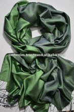 Reversible, double sided 100% silk shawl