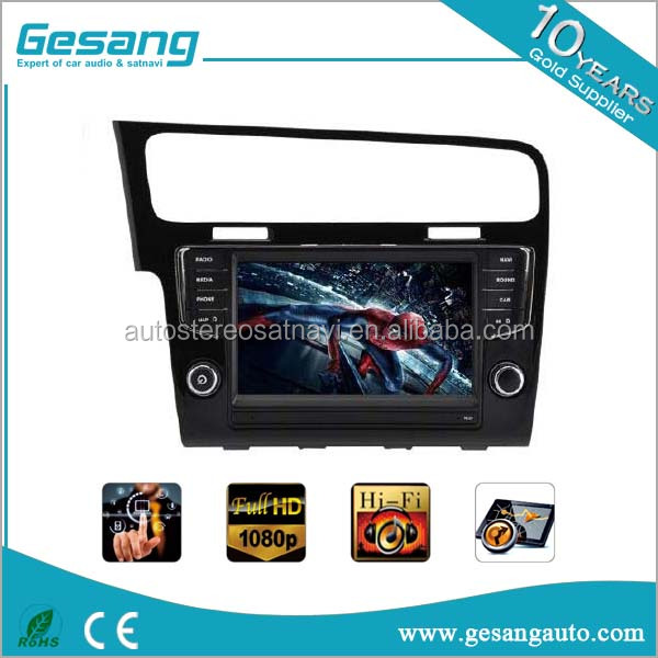 Double din 9 Inch Car stereo gps navigation car dvd player for Volkswagen Golf 7 LHD