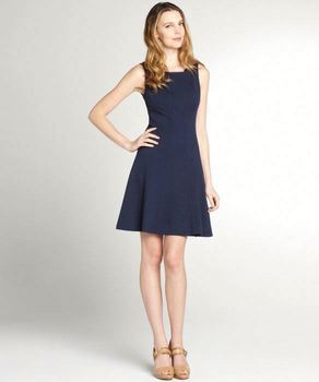 Navy blue stretch sleeveless women formal dresses