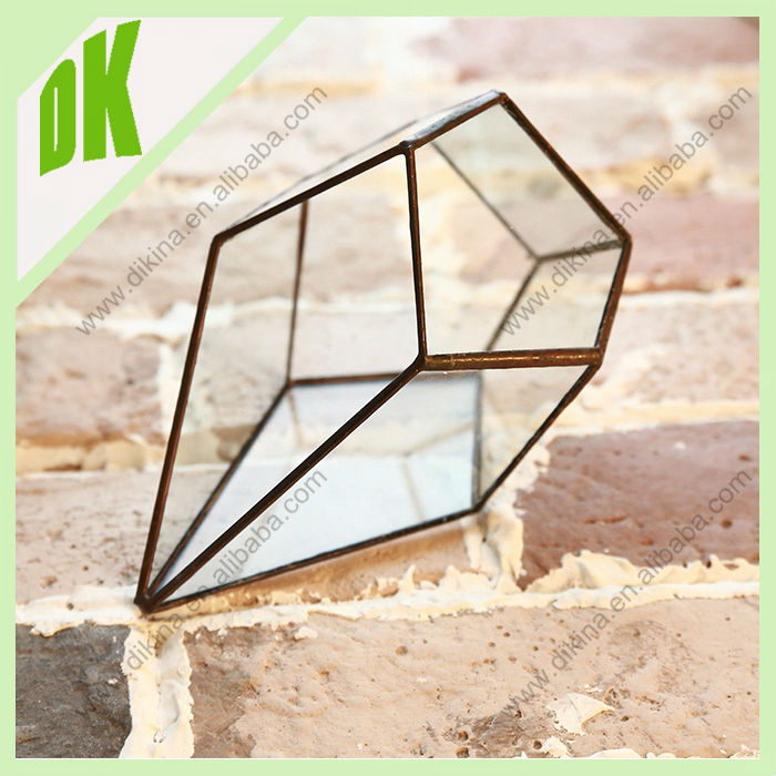 Best wedding gift with square glass vases for flower arrangements // 12*12*17 & 16*16*25 cm Party Table Decor Square Glass Vase
