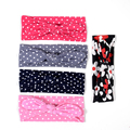 Baby Girl Headband Stretchy Hairband Knot Bow Flower Polka Dot Head Wrap Baby Shower Gift