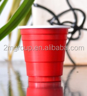Hot sale red shot glass / 2oz shot glasses / 60ml red cups