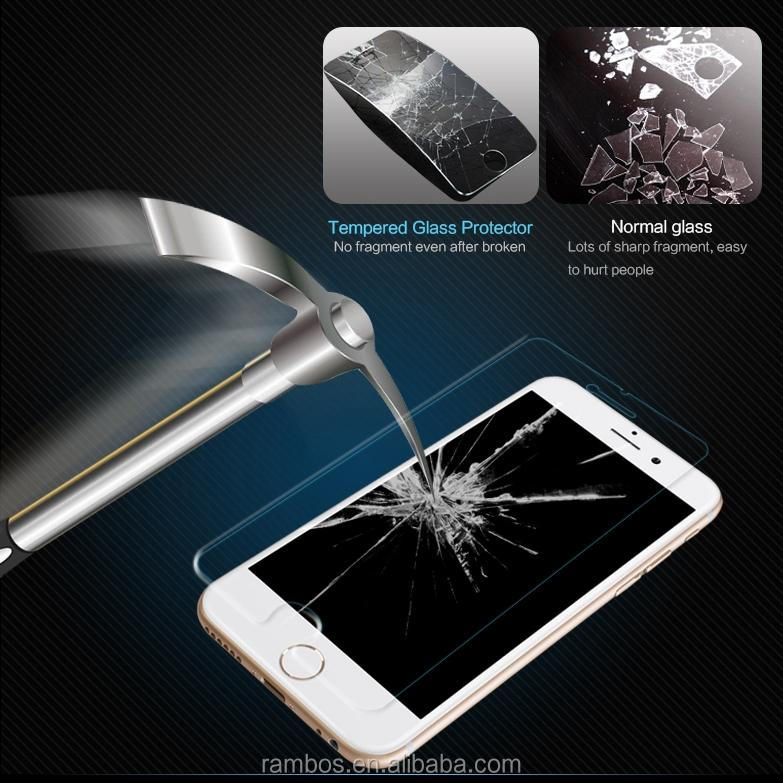 Reinforced 9H Explosion Proof Clear 0.33mm Tempered Glass Screen Protector for iPhone 6S
