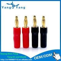 YangYang wholesale brass 4mm banana plug with rubber houseing