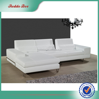 High Density Sponge modern sectional single seat leather sofa